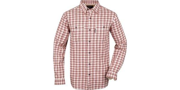 Pánska košeľa s červenými kockami Bushman