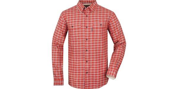 Pánska košeľa s oranžovými kockami Bushman