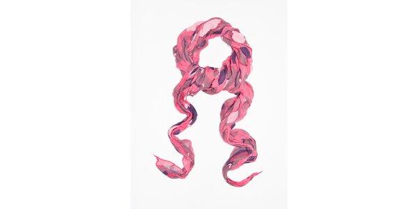 Dámska ružová bodkovaná šatka Bella Rosa