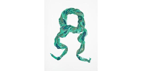 Dámska zelená bodkovaná šatka Bella Rosa