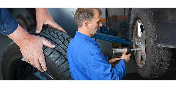 Prezutie a vyváženie pneumatík, nastavenie geometrie náprav + bezplatná…