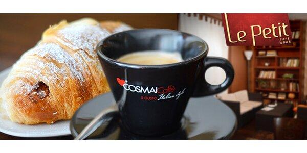 Luxusná cibetková káva s croissantom
