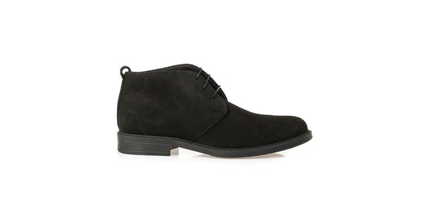 Pánske čierne kožené poltopánky Crash Shoes