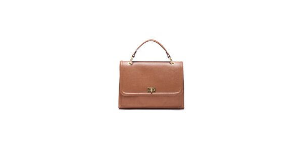 Dámska koňakovo hnedá kabelka Roberta Minelli