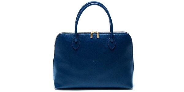 Dámska akvamarínová kabelka z kvalitnej kože Renata Corsi