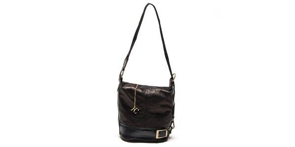 Dámska čierna kabelka s prackou Renata Corsi