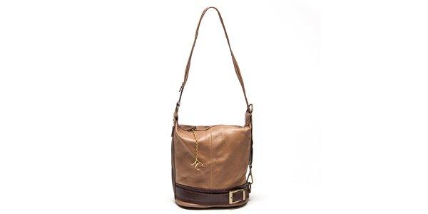 Dámska hnedá kabelka s prackou Renata Corsi