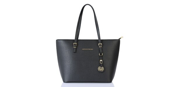 Dámska čierna kabelka s príveskom Giorgio di Mare