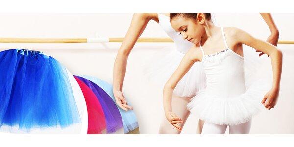 Bohato riasená TUTU suknička pre malé baletky
