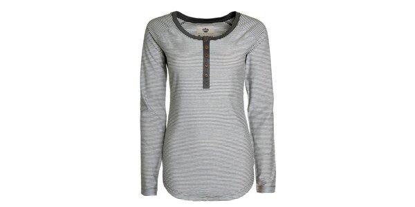 Dámske šedé pruhované tričko Sublevel