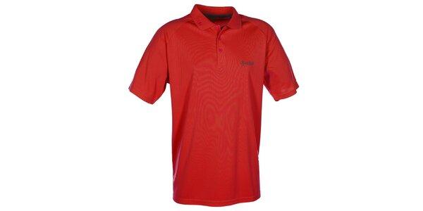 Pánske červené funkčné polo tričko Kilpi