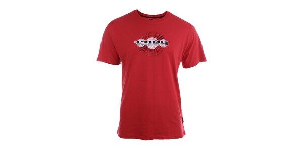 Pánske červené tričko s potlačou Envy