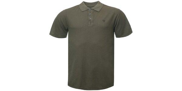 Pánske khaki polo tričko Bushman