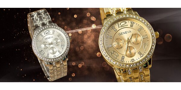 Dámske náramkové luxusné hodinky Geneva