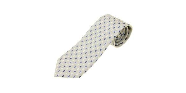 Pánska svetlo šedá hodvábna kravata Ballantyne s jemným vzorom