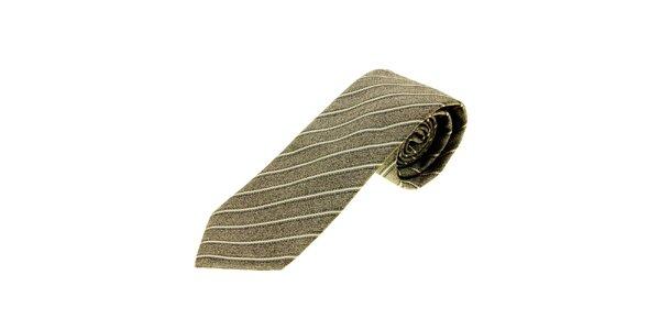 Pánska šedá prúžkovaná kravata Gianfranco Ferré