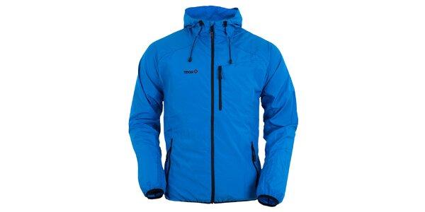Pánska modrá bunda s kapucňou Izas