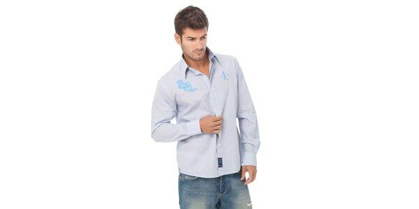 Pánska svetlo modrá kockovaná košeľa Valecuatro