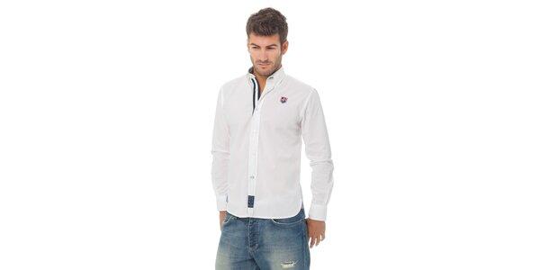 Pánska biela košeľa Valecuatro s výšivkou