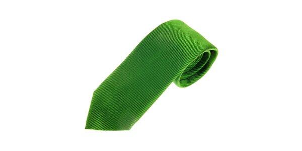 Pánska trávovo zelená kravata Gianfranco Ferré