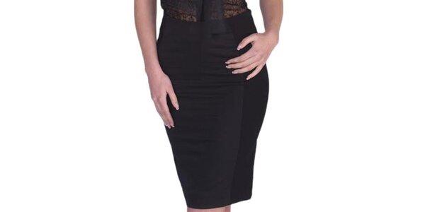 Dámska čierna púzdrová sukňa Arefeva