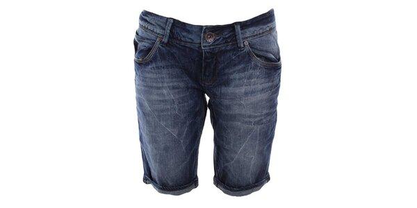 Dámske modré džínsové kraťasy Timeout