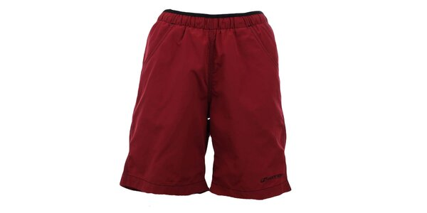 Dámske tmavo červené šortky Hannah