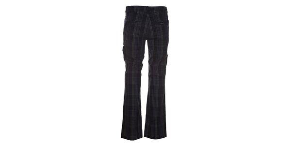 Pánske čierne nohavice so zelenými detailmi Kilpi