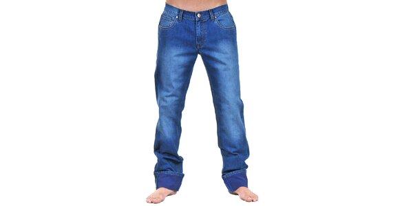 Pánske modré džínsy so šisovaním Giorgio di Mare