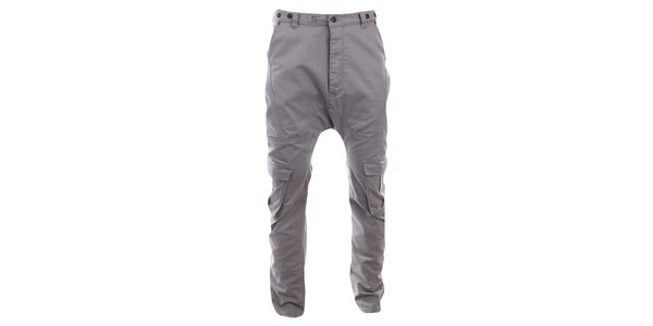 Pánske šedé nohavice s vreckami Timeout