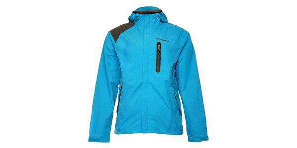 Pánska tyrkysová športová bunda s kapucou Fundango