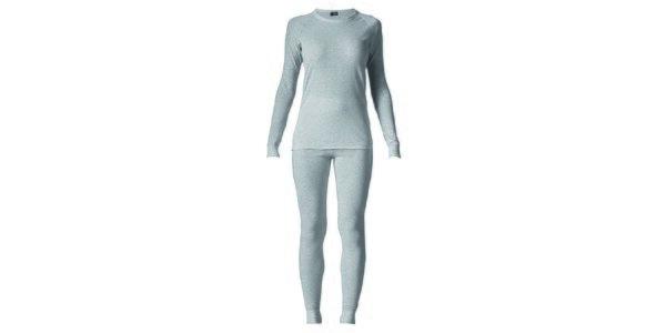 Dámsky svetlo šedý set spodnej bielizne - tričko a nohavice Bergson