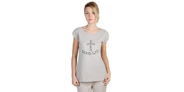 Dámske šedé tričko s krátkym rukávom Bonavita