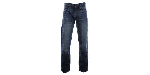 Pánske modré džínsy so šisovaním Big Star