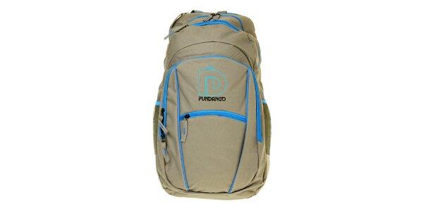 Pánsky šedý batoh Fundango s modrými detailami