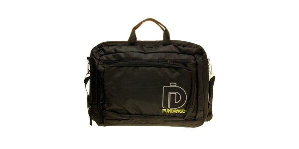 Pánska čierna taška na notebook Fundango