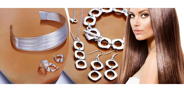 14 druhov šperkových setov z mincového striebra