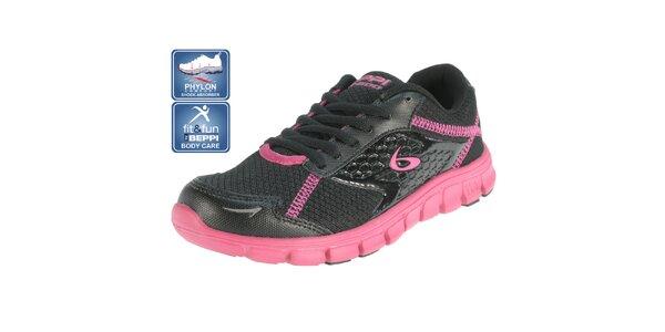 Dámske čierne bežecké topánky Beppi