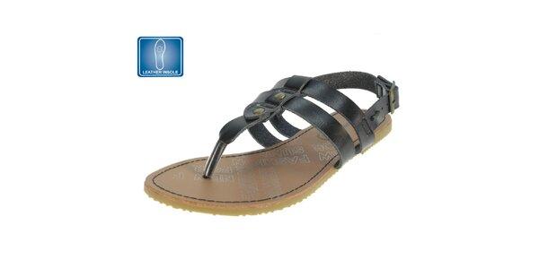 Dámske čierne remienkové sandále Beppi