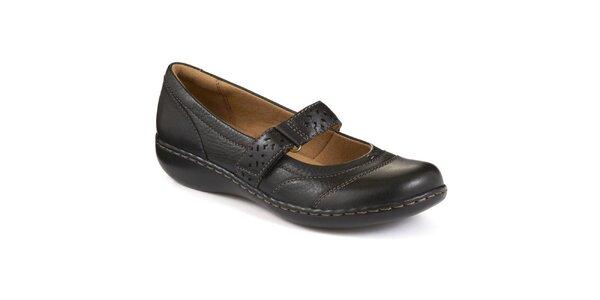 c539b862a5 Dámske čierne topánky s remienkom cez nárt Clarks