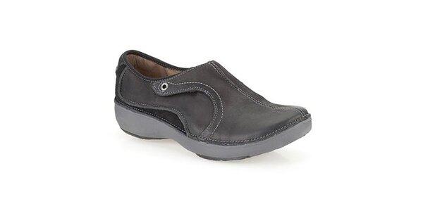 Dámske čierne kožené topánky Clarks