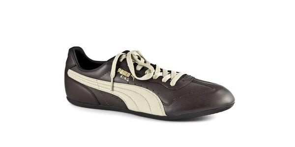 Čierno-béžové tenisky Puma Ring
