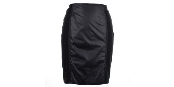 Dámska čierna koženková sukňa Pietro Filipi