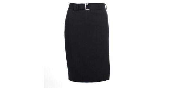 Dámska čierna sukňa s jemnými bodkami Pietro Filipi