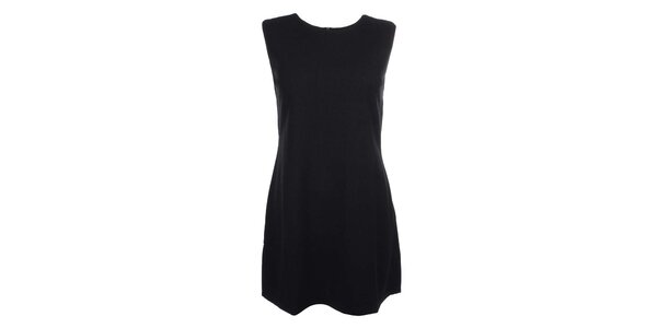 Dámske čierne šaty bez rukávov Iska