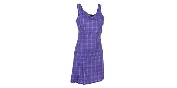 Dámske vzorované fialové šaty Kilpi