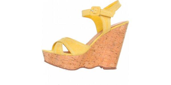 Dámske žlté sandálky na platforme Ana Lublin