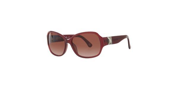 Dámske vínové slnečné okuliare Michael Kors