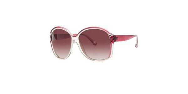Dámske transparentné slnečné okuliare Michael Kors s ružovými detailami