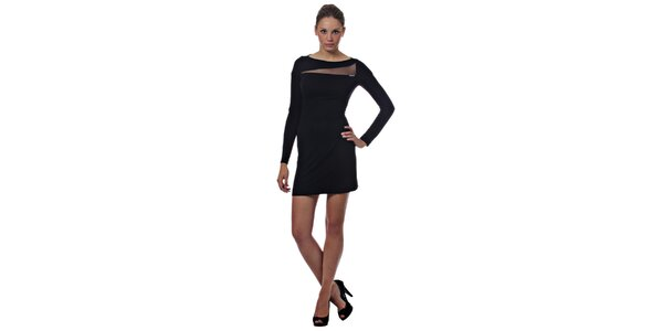 Dámske čierne mini šaty Miss Sixty